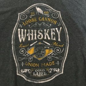 "Sonoma ""Loose Canon Whiskey"" short sleeve tee."